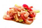 27 Crevettes sautées aux noix de cajou